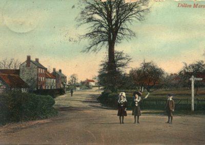 Church Corner pre 1910 hand tinted