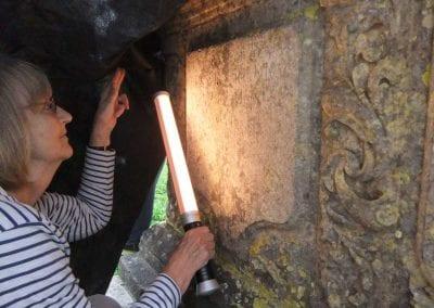 Deciphering a gravestone inscription
