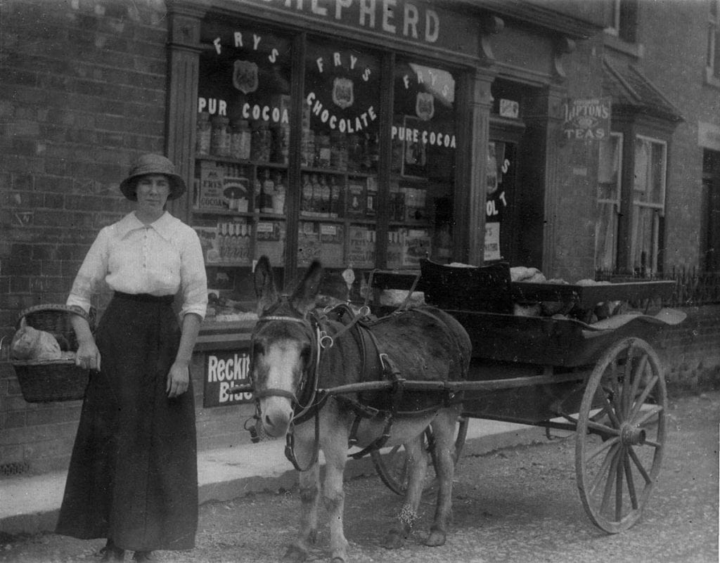 Shepherd's shop with donkey