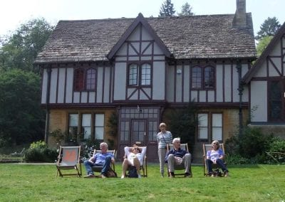 Time for a break at Chedworth Roman Villa