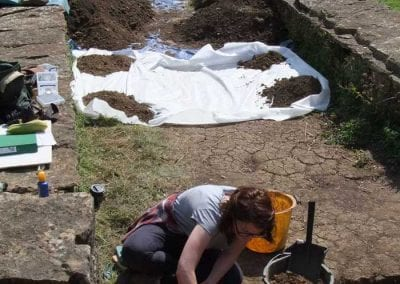 Visit to see archaeologists at work at Chedworth Roman Villa