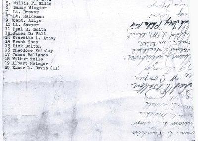 U.S. Soldiers Signatures & Names-2